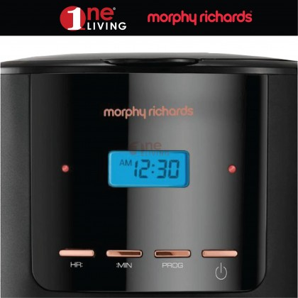 Morphy Richards Coffee Maker 1.8L Rose Gold & Black 162030