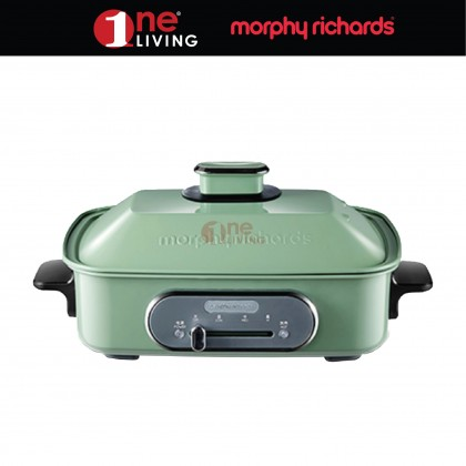 Morphy Richards Multicooker Grill Pan Multifunction Cooking Pot Green 562011