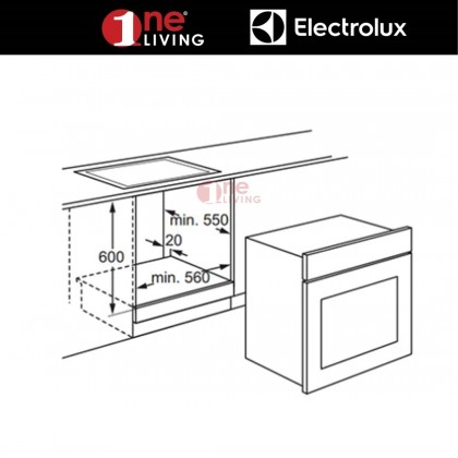 Electrolux 72L Built-in Oven with Grill Function EOB2400AOX