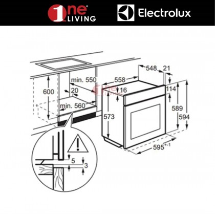 Electrolux 72L Built-in PlusSteam Oven EOB3434BOX