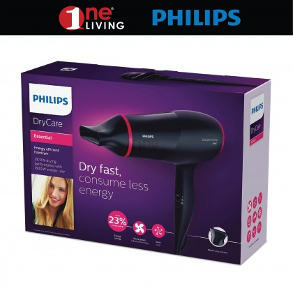 Philips DryCare Essential Energy efficient hairdryer BHD029/03