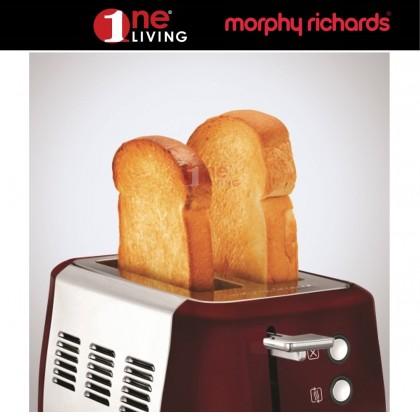 Morphy Richards Evoke 2 Slice Toaster Red 224408