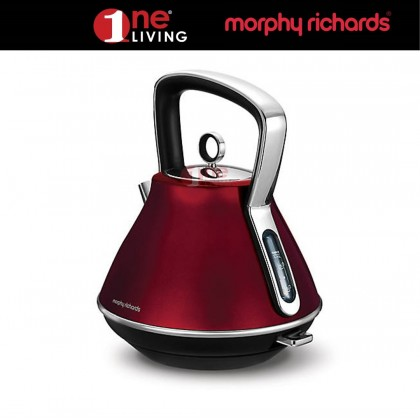 Morphy Richards Evoke Pyramid Kettle Red 100108