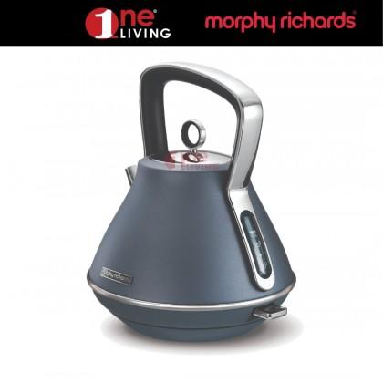 Morphy Richards Evoke Pyramid Kettle Steel Blue 100102
