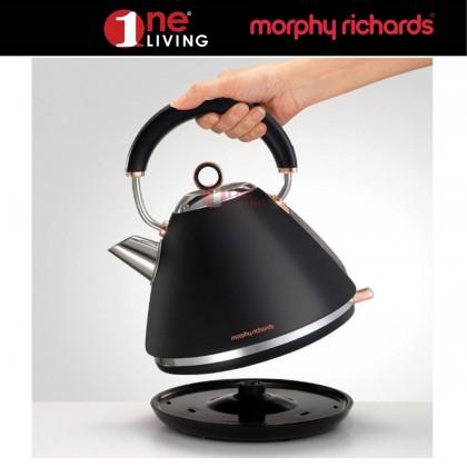 Morphy Richards Accents Rose Gold Kettle Black 102104