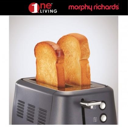 Morphy Richards Evoke 2 Slice Toaster Steel Blue 224402