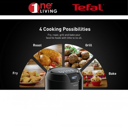 [Online Exclusive Bundle] Tefal Easy Fry Precision Digital 4.2L Air Fryer EY401 + Tefal Convenient Steamer Stainless Steel VC1451