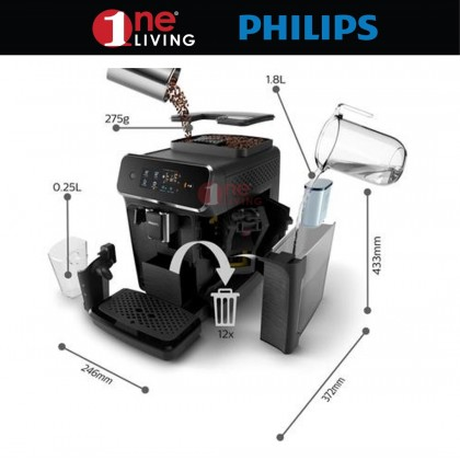 Philips Series 2200 Fully Automatic Espresso Machines EP2220 (EP2220/10)