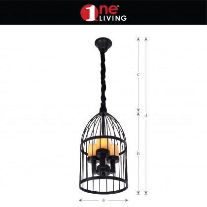 Cage 25 Classic Series 8315-3 Pendant Light