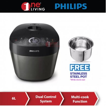 Philips Deluxe Collection All-In-One Multi Cooker HD2145 (HD2145/62) (Free Stainless Steel Pot)